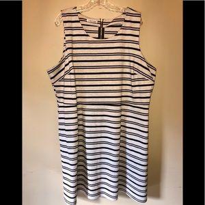 Maurices Tan & Black Striped A-Line Dress 3